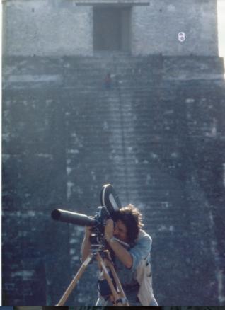 Krov filming in Tikal Guatemala