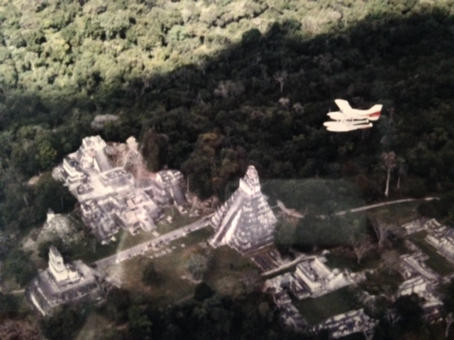 Krov flying Maule over Tikal Guatemala