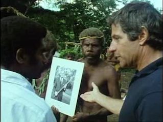 Krov on the island of Tanna with the tribe that consider Prince Phillip to be their leader